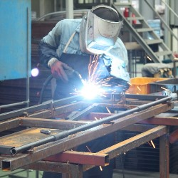 Soldotna AK welding trade school student